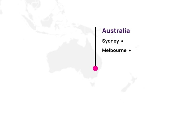 Map of Hotwire partners in Australia