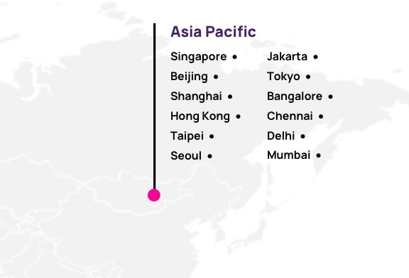 Map of Hotwire partners in APAC