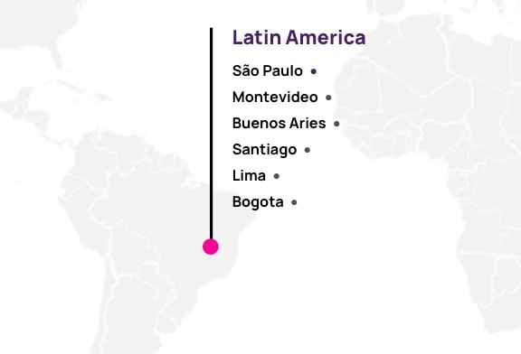 Map of Hotwire partners in Latin America