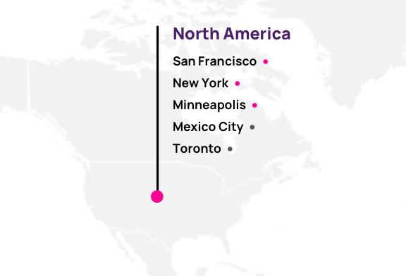 Map of Hotwire partners in North America